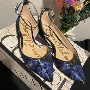 Sam Edelman Radley Blue Floral Flat Size 6